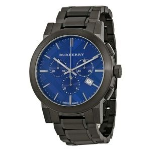 Burberry Blue Mens Swiss Chronograph Watch BU9365